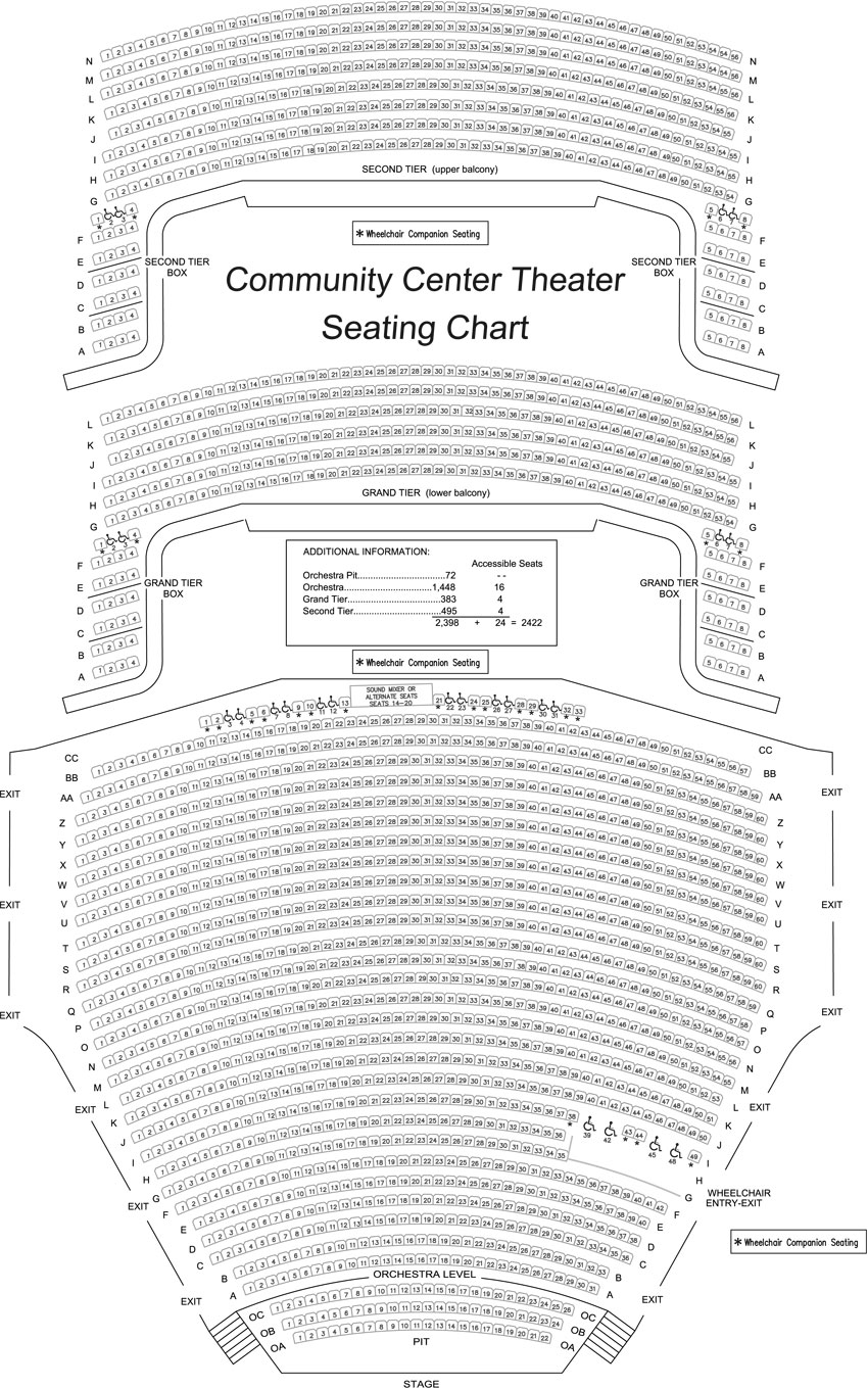 Community Center Theatre Sacramento Philharmonic Opera Black Box Diagram Ucf Seating Charts Chart Website